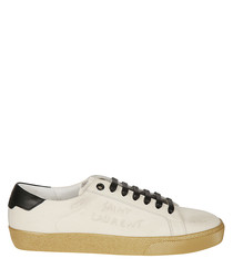 Panna & black canvas sneakers