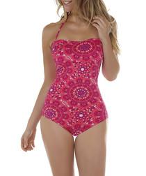 Jaipur pink bandeau swimsuit