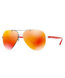 Red gradient aviator sunglasses