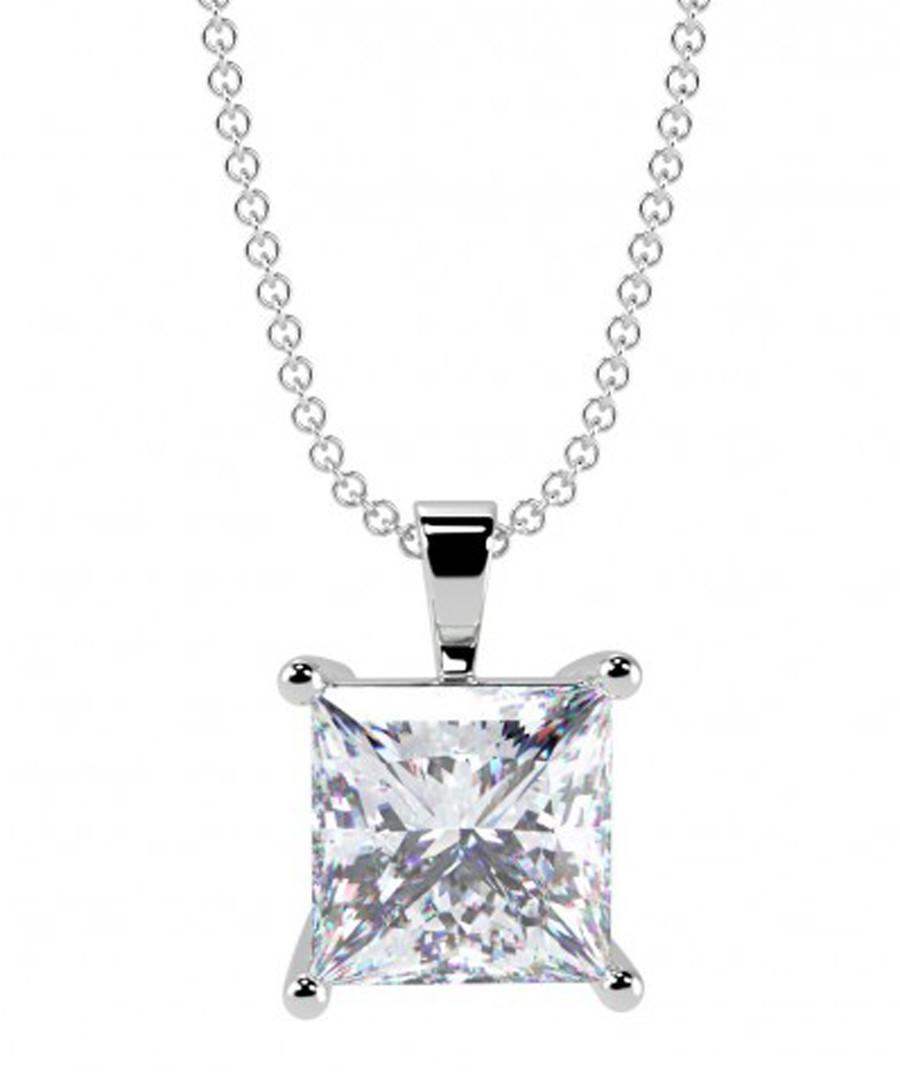 0.50ct princess diamond pendant Sale - buy fine diamonds