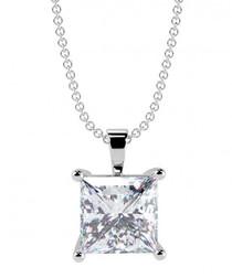0.50ct princess diamond pendant