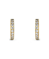 0.30ct round diamond hoop earrings