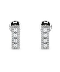 0.50ct baguette diamond bar studs