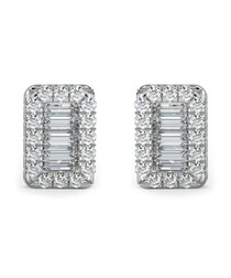 0.40ct baguette diamond studs