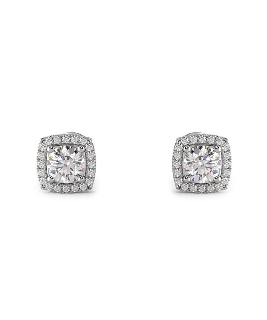 0.50ct cushion diamond halo studs Sale - Buy Fine Diamonds