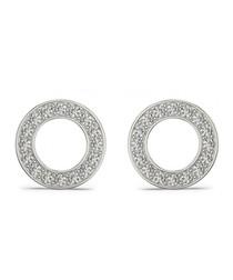 0.25ct round diamond halo earrings