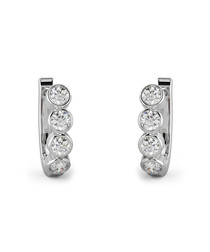 0.50ct round diamond hoop earrings