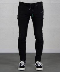 Black pure cotton skinny jeans