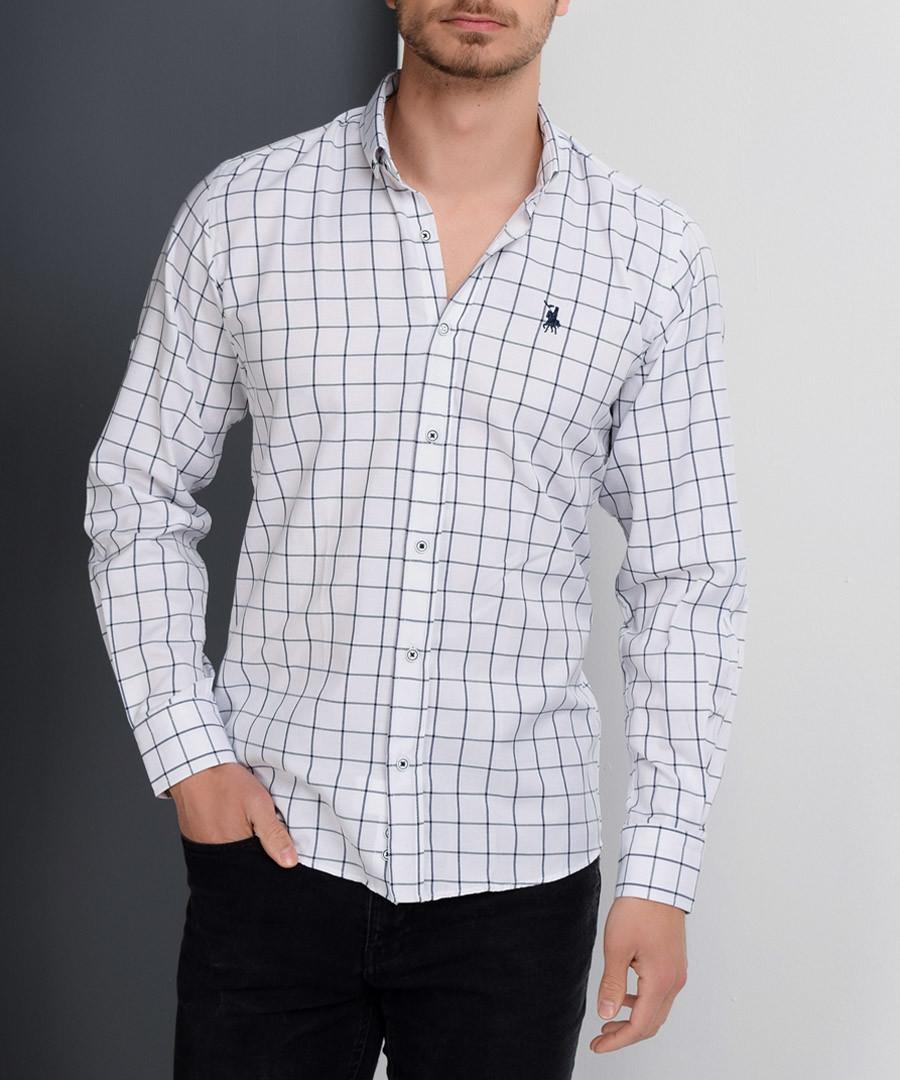 White check cotton blend shirt Sale - Dewberry