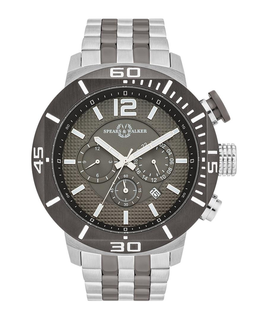 Pugnator silver-tone & grey steel watch Sale - spears & walker