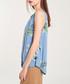 Azure floral sleeveless blouse Sale - dioxide Sale
