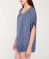Navy blue print scoop neck blouse Sale - dioxide Sale