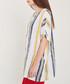 White, navy & yellow stripe blouse Sale - dioxide Sale