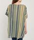 Khaki, navy & yellow stripe blouse Sale - dioxide Sale