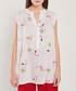 White flamingo print blouse Sale - dioxide Sale