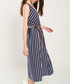 Navy & white stripe midi dress Sale - dioxide Sale