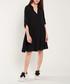 Black button-up half-sleeve dress Sale - dioxide Sale