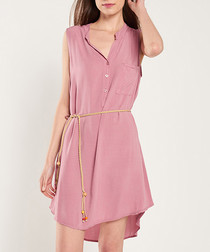 Rose quartz hi-low mini dress