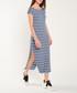 Blue, white & black stripe maxi dress Sale - dioxide Sale