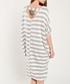 Grey & white stripe midi dress Sale - dioxide Sale
