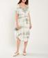 Khaki tie dye short sleeve shift dress Sale - dioxide Sale