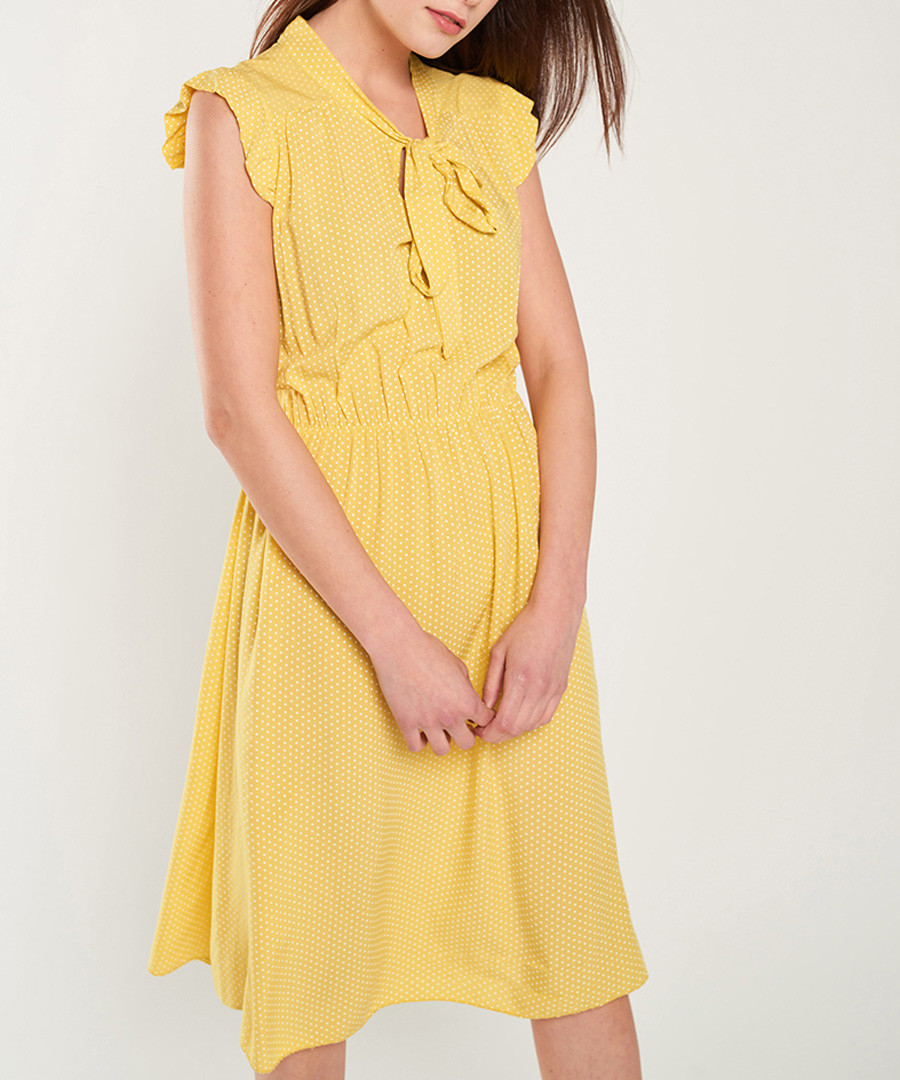 Yellow cap sleeve bow-tie dress Sale - dioxide
