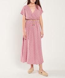 Rose & pink print maxi dress