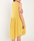 Yellow pure cotton triple button dress Sale - dioxide Sale