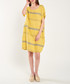 Yellow & grey pure cotton stripe dress Sale - dioxide Sale