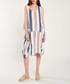 Navy, white & blue cotton stripe dress Sale - dioxide Sale