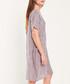 Rose & navy cotton mini stripe dress Sale - dioxide Sale