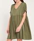 Khaki short sleeve empire line dress Sale - dioxide Sale