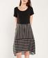 Black & multi-stripe short sleeve dress Sale - dioxide Sale