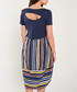 Navy & multi-stripe short sleeve dress Sale - dioxide Sale