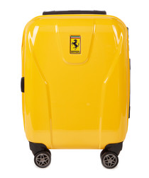 yellow hard shell cabin suitcase 54cm