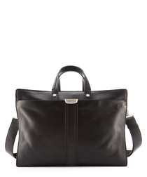 black leather travelbag 43cm