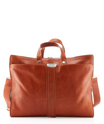 tan leather travelbag 43cm