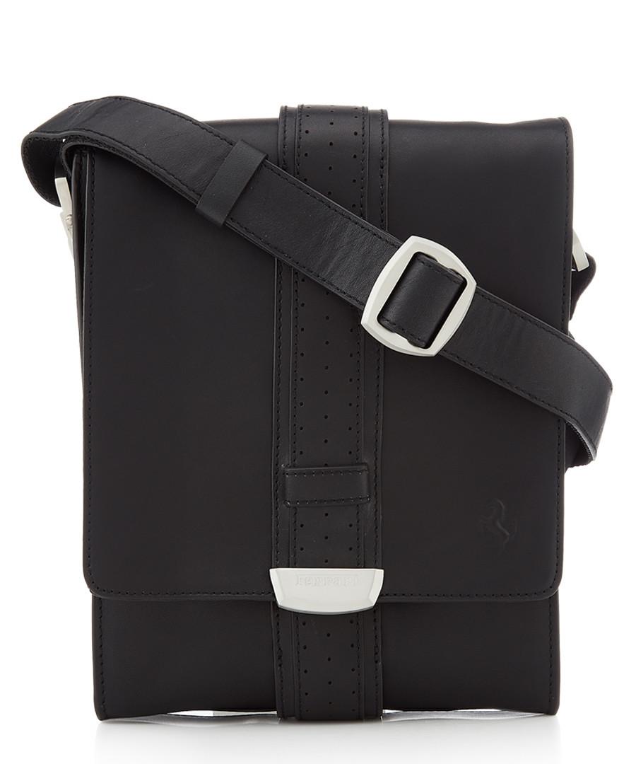 black leather tablet crossbody bag Sale - ferrari