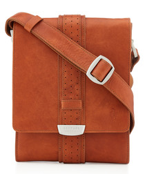 tan leather tablet crossbody bag