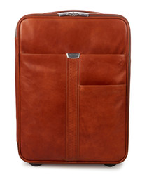 tan leather cabin suitcase 57cm