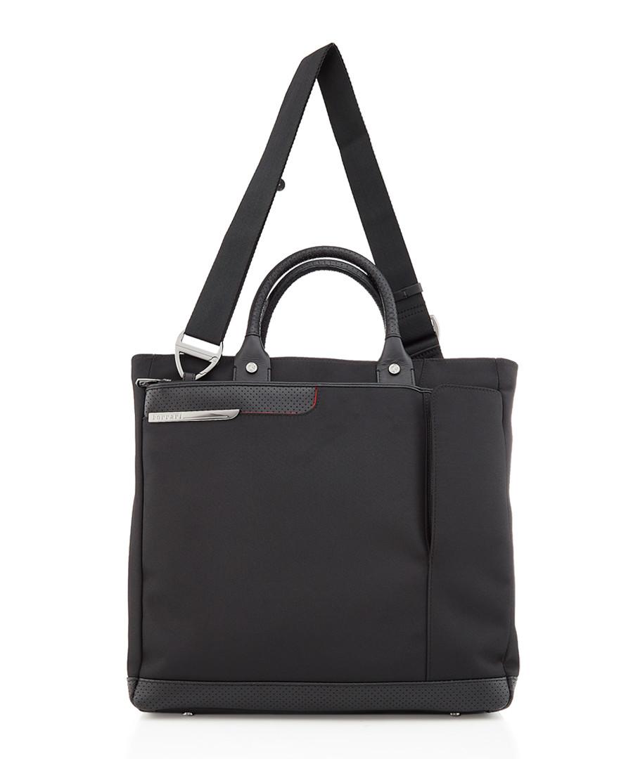 black leather & canvas tote bag Sale - ferrari