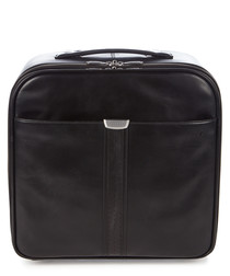 black leather trolley case 44cm