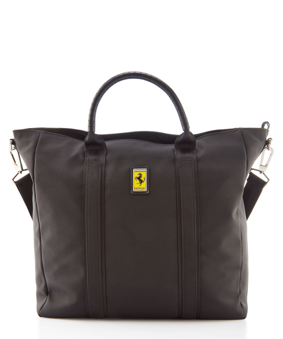 black canvas logo tote bag 39cm Sale - Ferrari