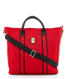 red canvas logo tote bag 39cm