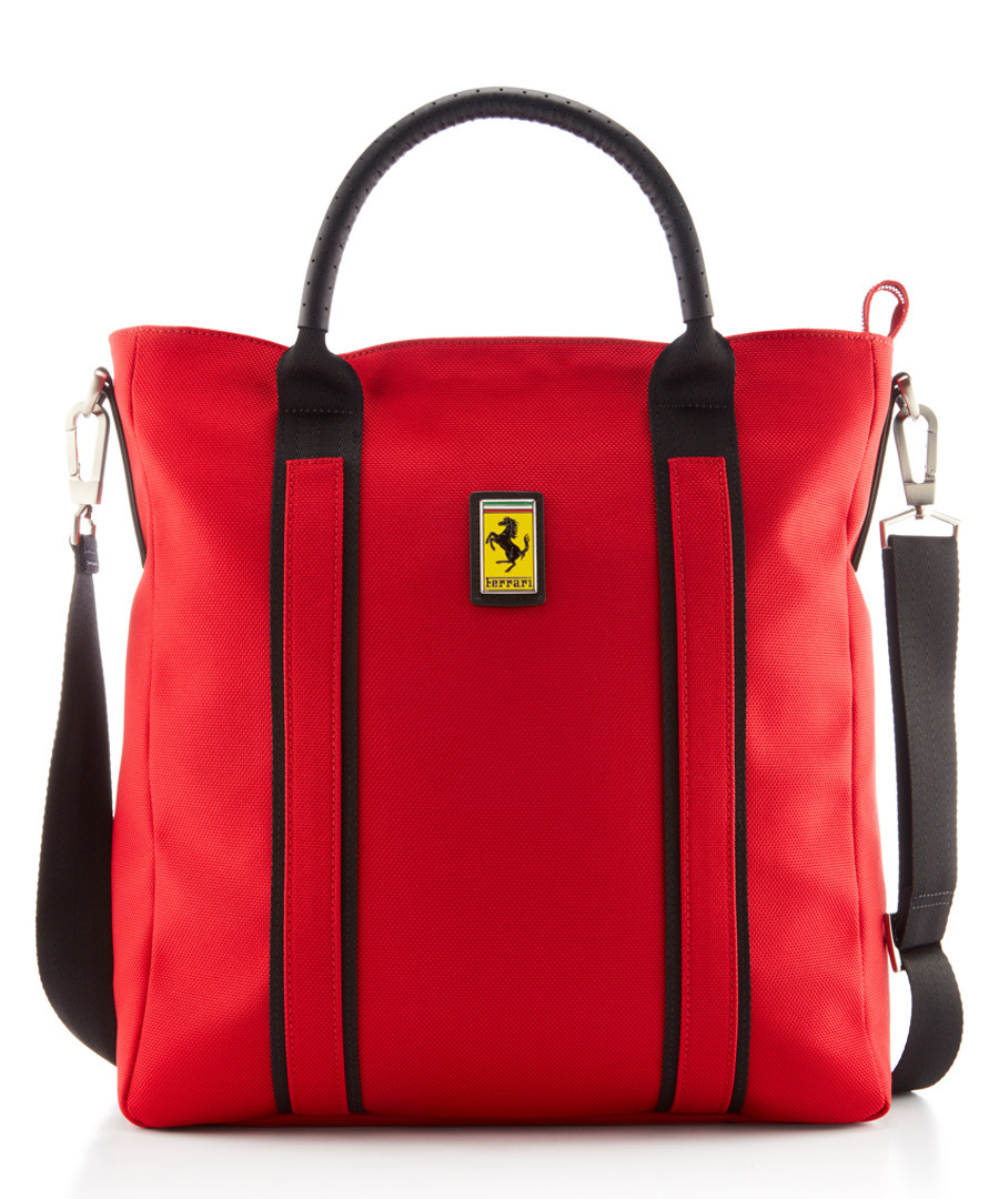red canvas logo tote bag Sale - Ferrari