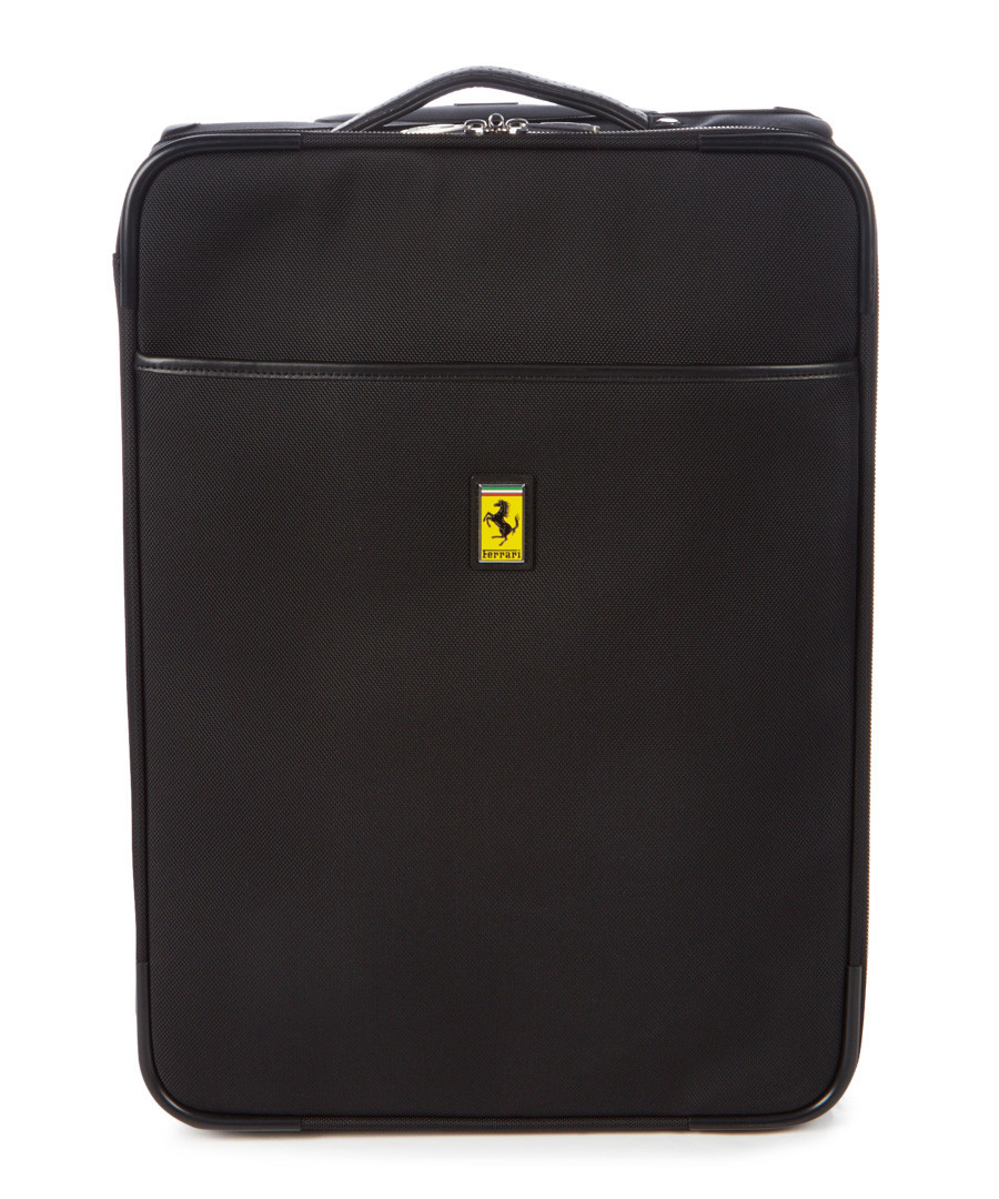 black canvas cabin suitcase 55cm Sale - Ferrari
