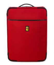 red canvas cabin suitcase 55cm