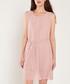 Pale pink pleated mini dress Sale - dioxide Sale