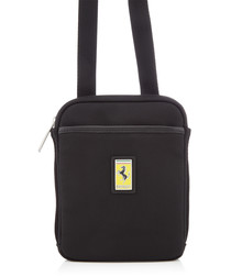 black canvas logo satchel