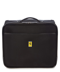 black canvas logo trolley case 40cm